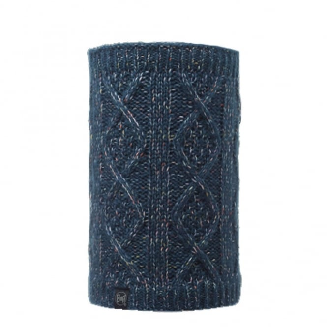 Buff Neckwarmer Polar Reversible Gymmer Denim/Melange Grey, chunky knitted neackwarmer