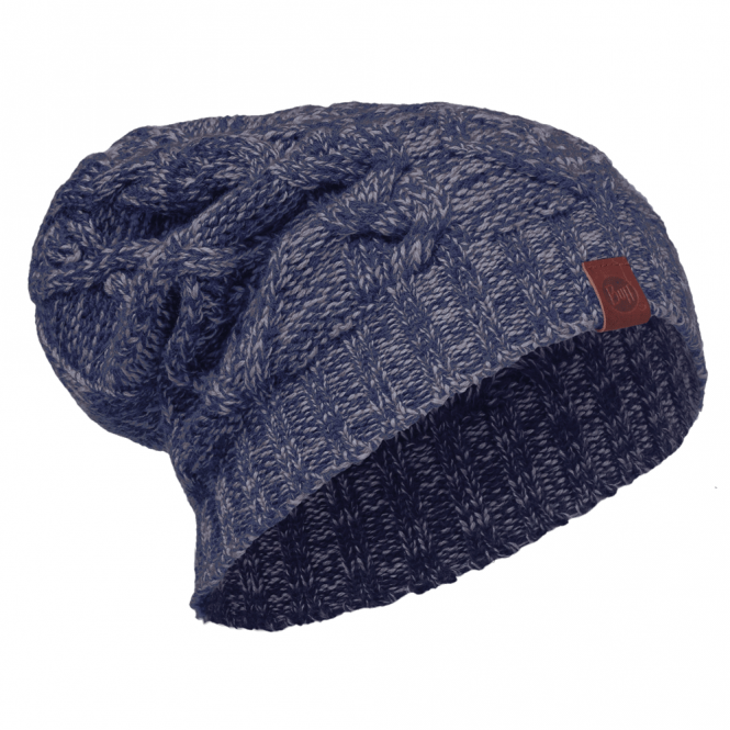 Buff Nuba Merino Wool Knitted Hat Medieval Blue, warm and soft merino wool hat