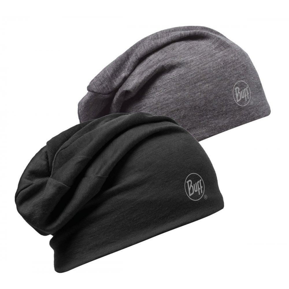Buff Reversible Merino Wool Slouchy Hat Black 2d84fd7dc06