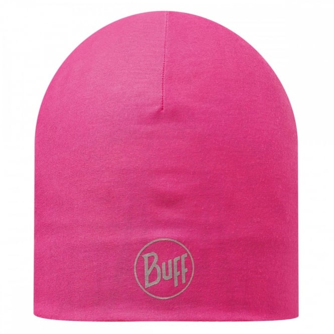 Buff Reversible Microfiber Hat Magenta, ideal for outdoor activities or a base layer to protect from the cold