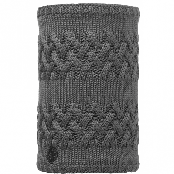 Buff Savva Polar Fleece Neckwarmer Grey Castlerock/Grey, warm and soft neckwarmer with fleece lining