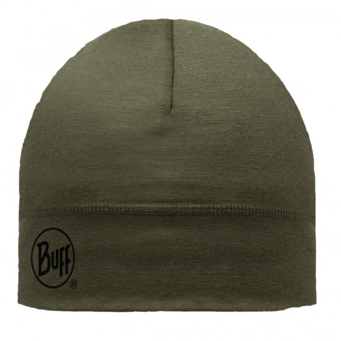 Buff Single Layer Merino Wool Hat Cedar, ideal for outdoor activity or a perfect base layer to protect from the cold