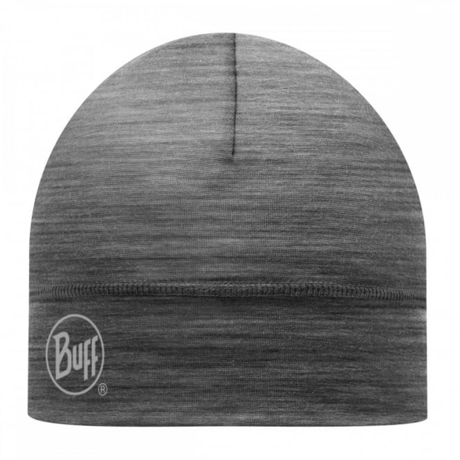 Buff Single Layer Merino Wool Hat Grey, ideal for outdoor activity or a perfect base layer to protect from the cold