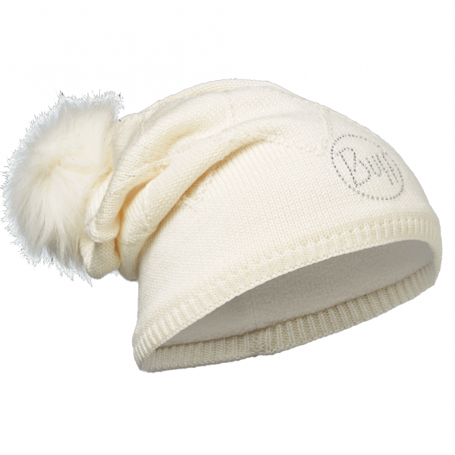 Buff Stella Knitted & Polar Fleece Hat Chic Cru, warm and soft hat with fleece lining