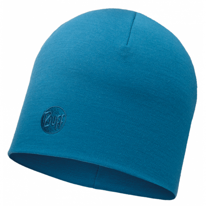 Buff Thermal Merino Wool Hat Ocean, ideal for out door activities or to protect from extreme cold weather