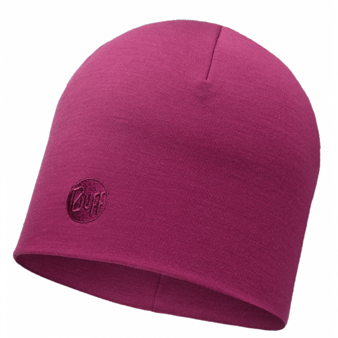 Buff Thermal Merino Wool Hat Pink Cerisse, ideal for out door activities or to protect from extreme cold weather