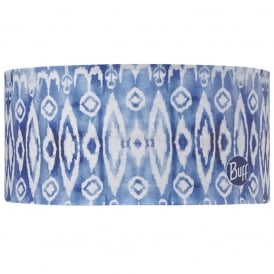UV Headband Ikat Aqua, stretchy coolmax fabric for excellent breathability and humidity control