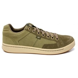 Cat Mens Cadre Sneaker Olive, Canvas Lace up