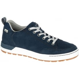 Cat Mens Evasion Navy, Suede casual trainer
