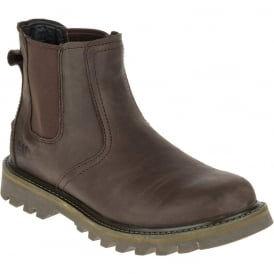 Mens Stoic Dark Brown, mens leather slip on boot