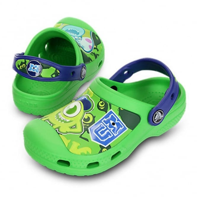 Crocs Creative Monsters Clog Neon Green/Cerulean Blue, the comfort of but with friends!