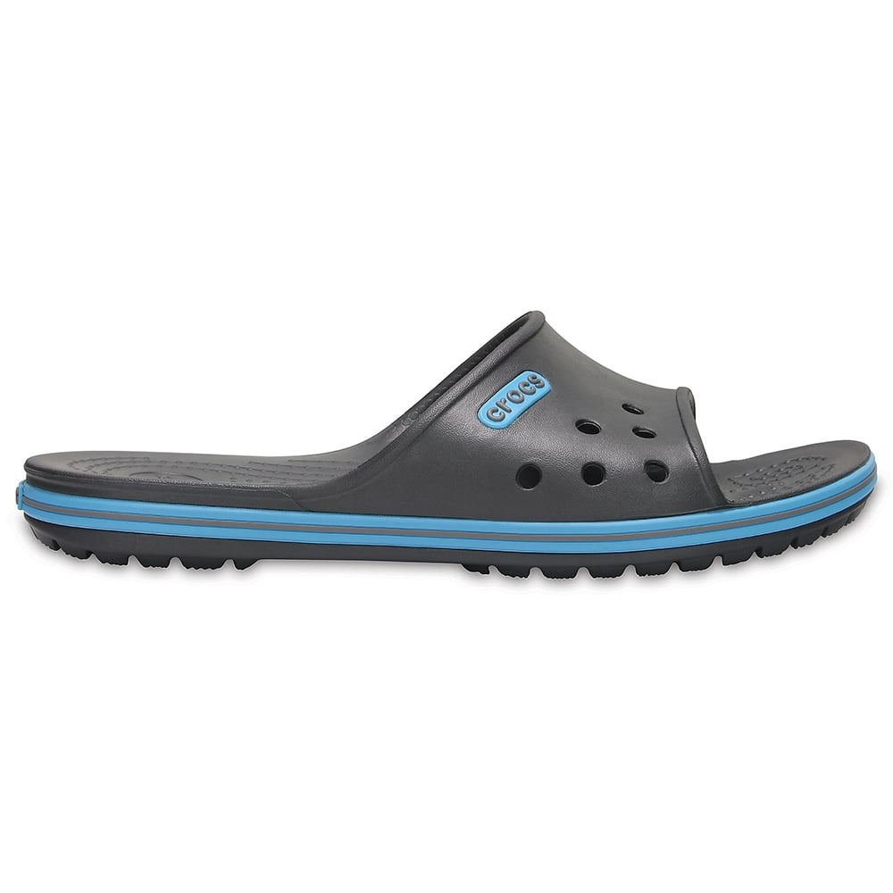 4caeb953a Crocs Crocband II Slide Graphite Electric Blue