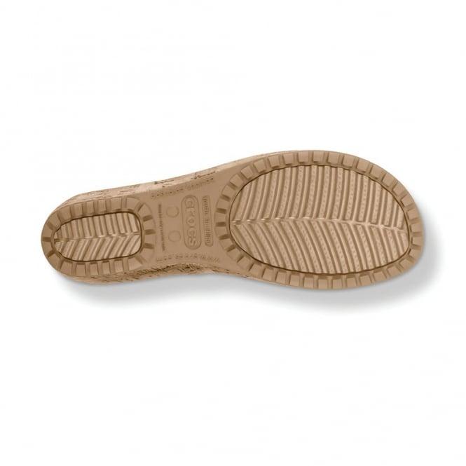 37d8924cc02e Crocs A-Leigh Leather Sandal Stucco