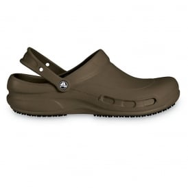 Bistro Chocolate, Enclosed croslite work clog with Crocs Lock slip resistant soles