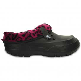 Blitzen II Clog Graphic Black/Berry, easy to remove liner