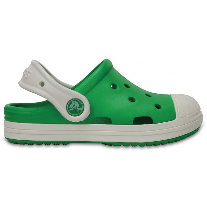 Crocs Bump It Clog Grass Green/Oyster, vintage sneaker inspired single sized clog