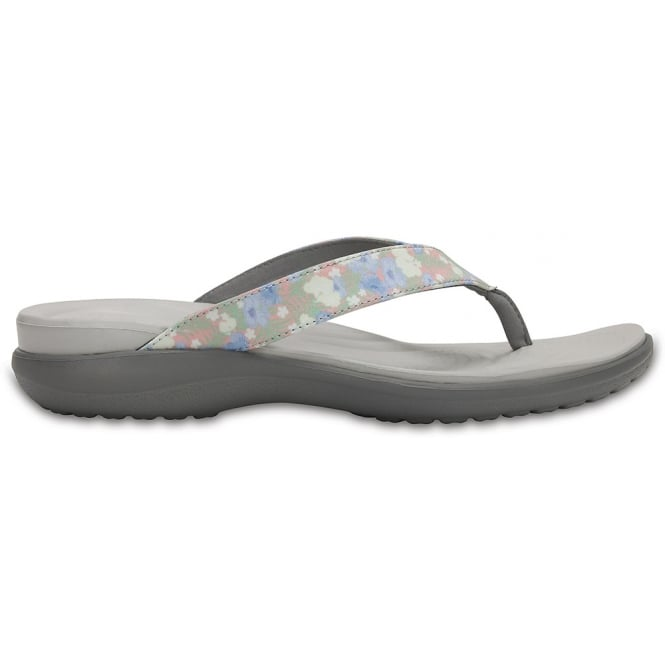 Crocs Capri V Graphic Flip Floral/Light Grey, the classic flip but with new thinner straps