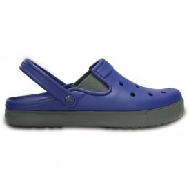 Citilane Clog Cerulean Blue/Charcoal, a slender version of the Classic and Crocband Clog for a more taylored fit