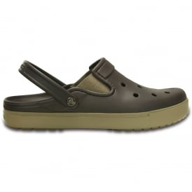 Citilanes Clog Espresso/Khaki, a slender version of the Classic and Crocband Clog for a more taylored fit