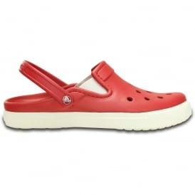 Citilanes Clog Pepper/White, a slender version of the Classic and Crocband Clog for a more taylored fit