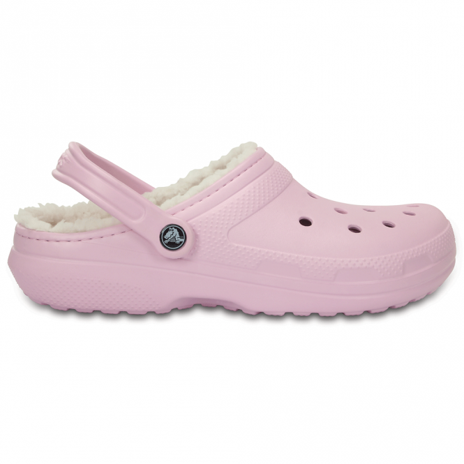 Crocs Classic Lined Clog Ballerina Pink/Oatmeal, the Classic Clog but with a warm fuzzy lining