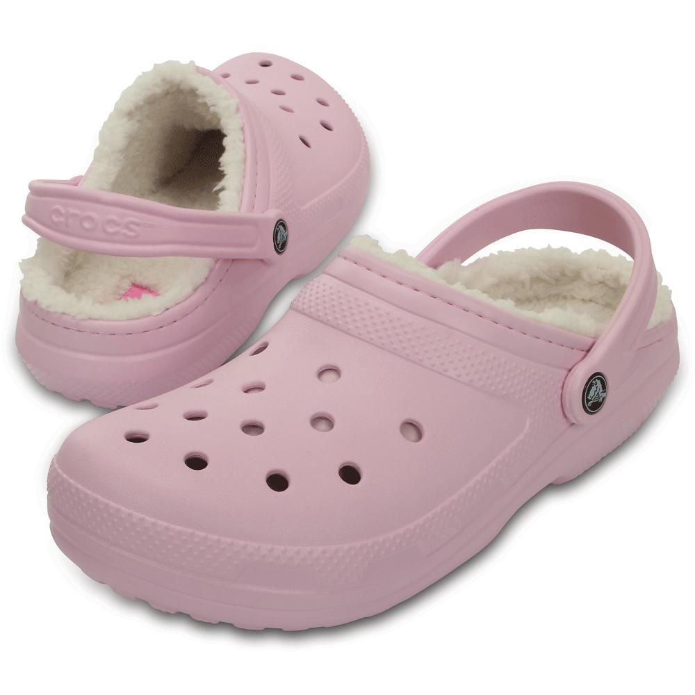 8c35f184b9b5 Crocs Classic Lined Clog Ballerina Pink Oatmeal