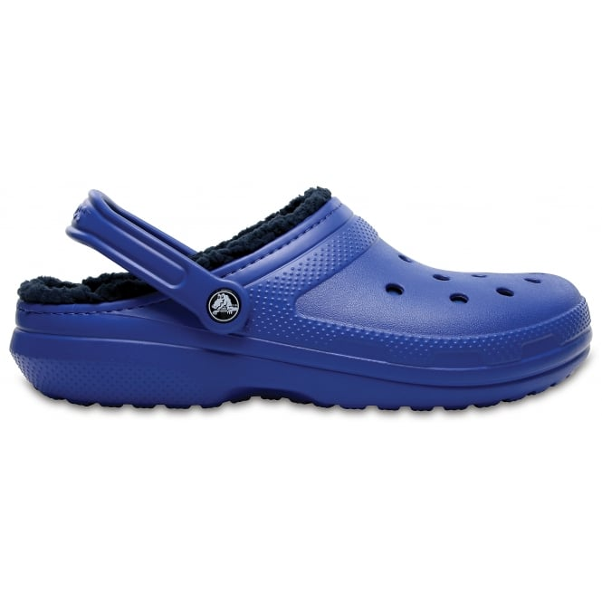 Crocs Classic Lined Clog Blue Jeans/Navy, the Classic Clog but with a warm fuzzy lining