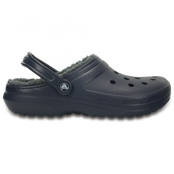 Crocs Classic Lined Clog Navy/Charcoal, the Classic Clog but with a warm fuzzy lining