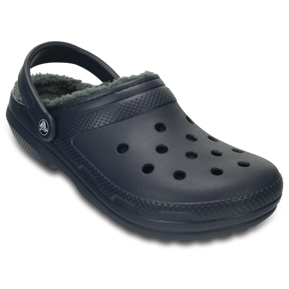 13dc5c45d8a92 Classic Lined Clog Navy/Charcoal, the Classic Clog but with a warm fuzzy  lining