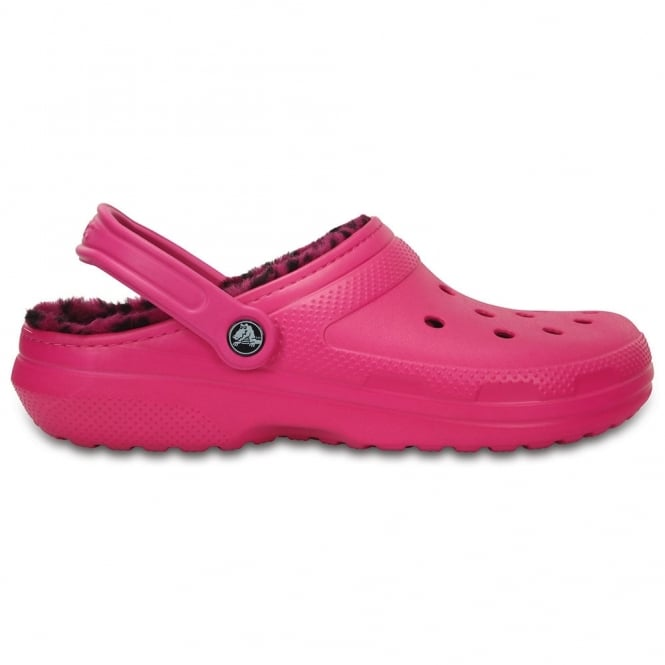 Crocs Classic Lined Pattern Clog Candy Pink/Berry, all the comfort of the Classic Clog but with a warm fuzzy lining