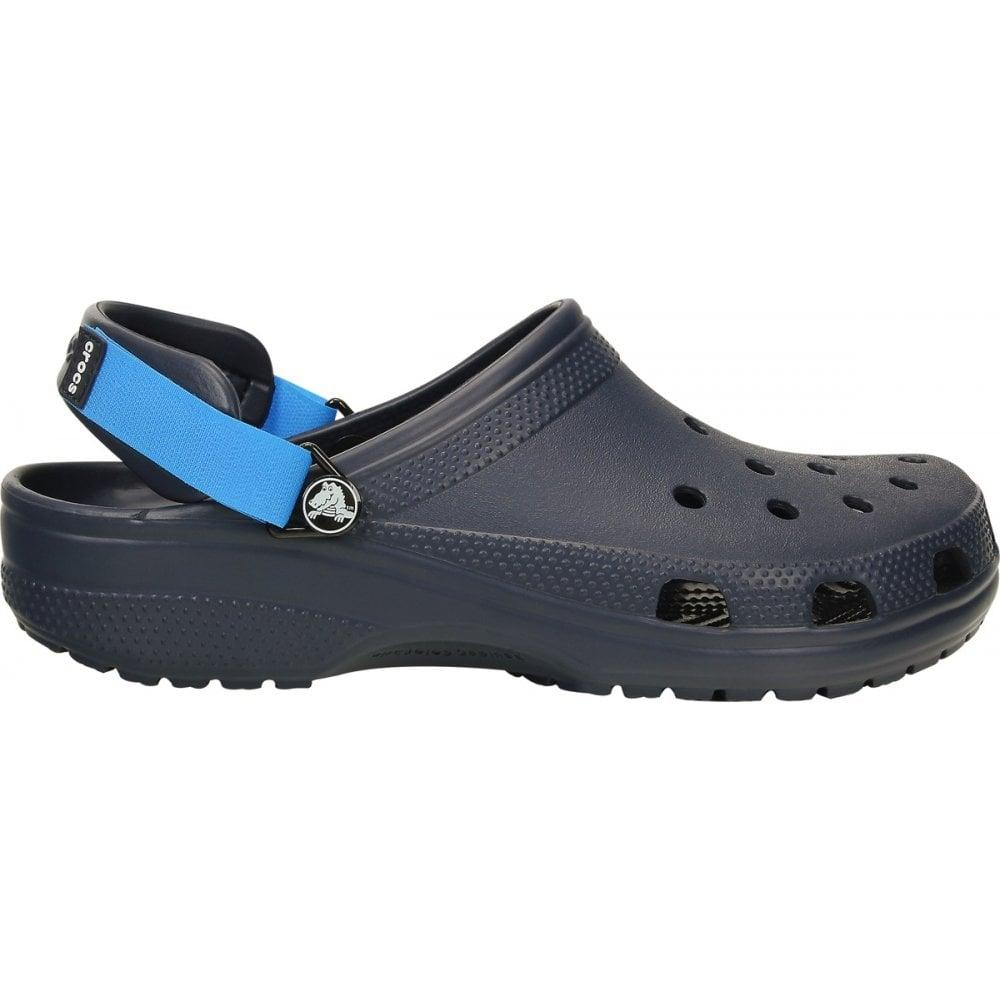 c0dd17a1c6ef Crocs Classic Turbo Strap Clog Navy Ocean