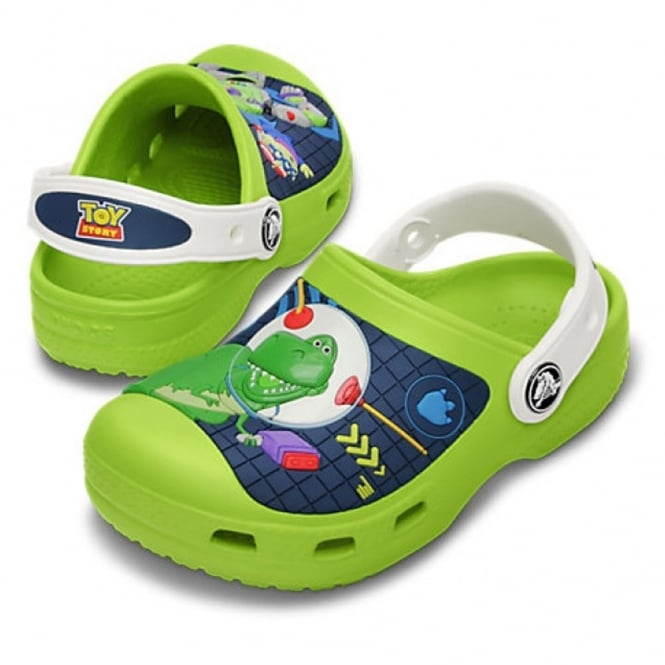 Crocs Creative Buzz Lightyear & Rex Clog Volt Green/White, comfort topped with your Toy Story friends!
