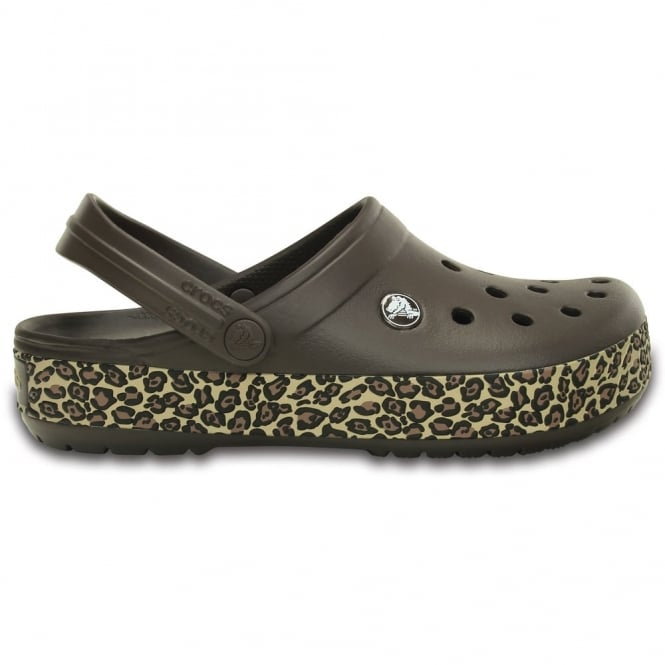 Crocs Crocband Animal Print Clog Espresso/Gold, the Crocband clog but with a splash of animal print