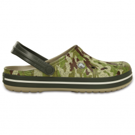 Crocband Camo Clog Dusty Olive, the classic Crocband clog but with a camo twist!
