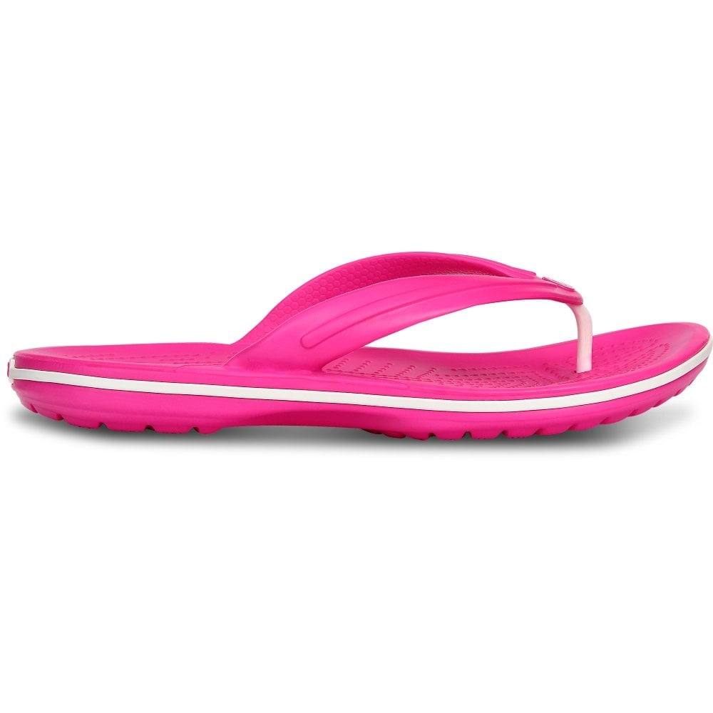 30dd443742f Crocband Flip Neon Magenta White lightweight comfort with circulation nubs  for blood flow stimulation