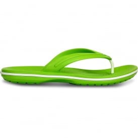Crocband Flip Volt Green/White, lightweight comfort with circulation nubs for blood flow stimulation