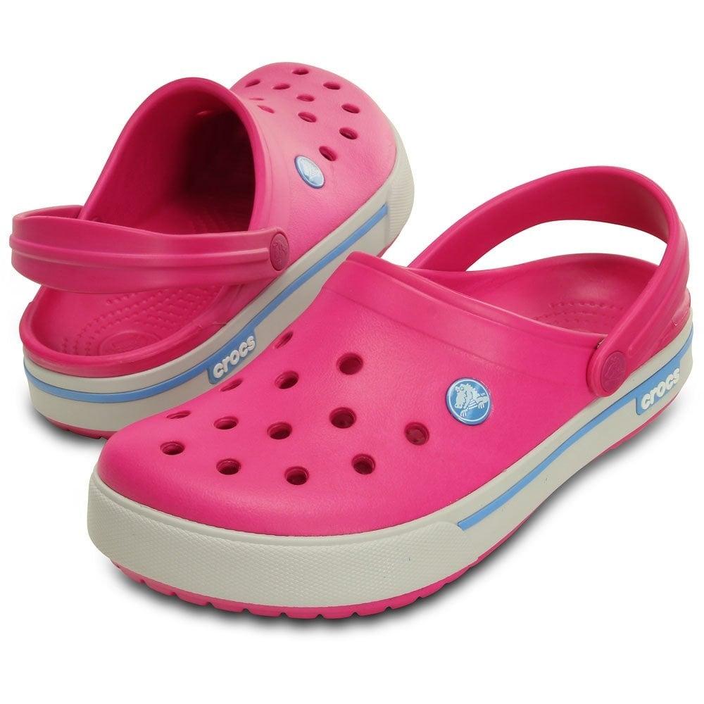 Crocband II.5 Clog Candy Pink/Blue Bell Retro styled slip on croslite shoe