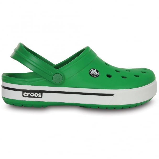 Crocs Crocband II.5 Clog Kelly Green/White, Retro styled slip on croslite shoe