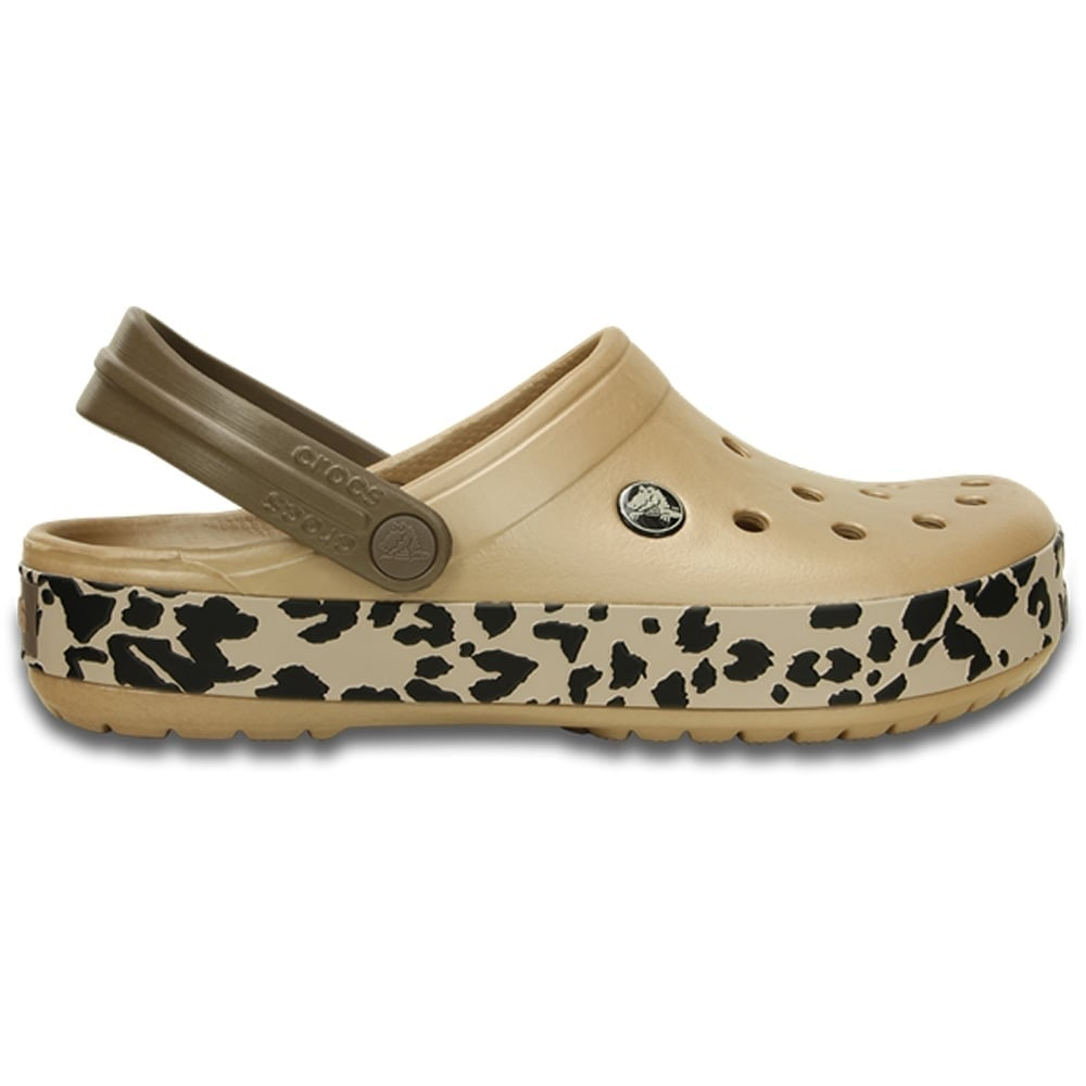 Crocband Leopard Clog GoldBlack the classic Crocband but with a hint of animal