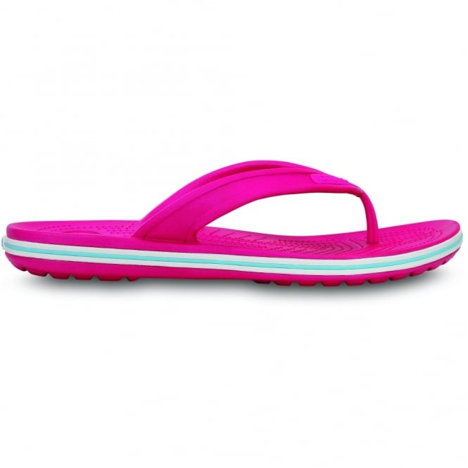 Crocs Crocband LoPro Flip Candy Pink/Electric Blue, comfort with streamlined profile