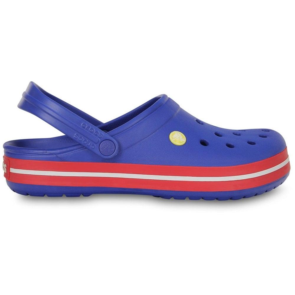 1d365e6dbb93e Crocs Crocband Shoe Cerulean Blue Pepper