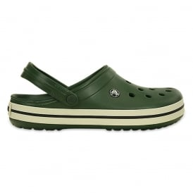 Crocband Shoe Forest Green/Stucco, All the comfort of a Classic but with a Retro look