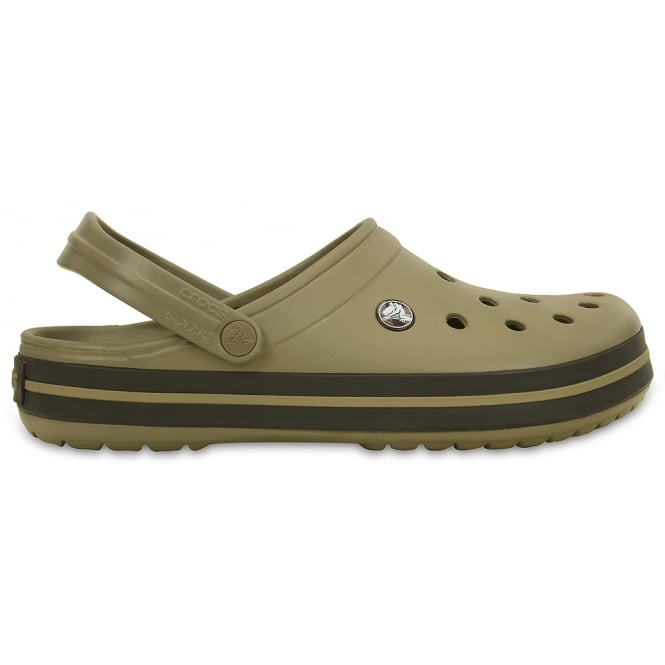 Crocs Crocband Shoe Khaki/Espresso, All the comfort of a Classic but with a Retro look