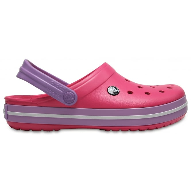 Crocs Crocband Shoe Paradise Pink/Iris, All the comfort of a Classic but with a Retro look