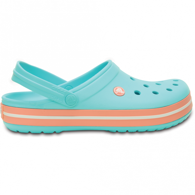 Crocs Crocband Shoe Pool/Melon, All the comfort of a Classic but with a Retro look