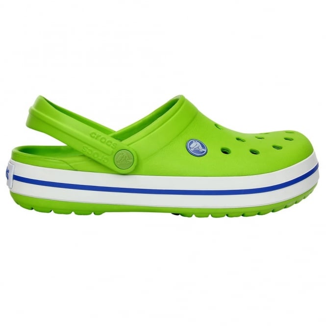 Crocs Crocband Shoe Volt Green/Varsity Blue, All the comfort of a Classic but with a Retro look