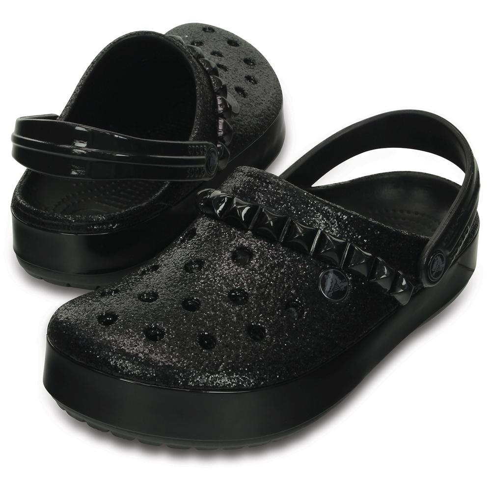 8e46fd8785dfc9 Crocs Crocband Studded Clog Black