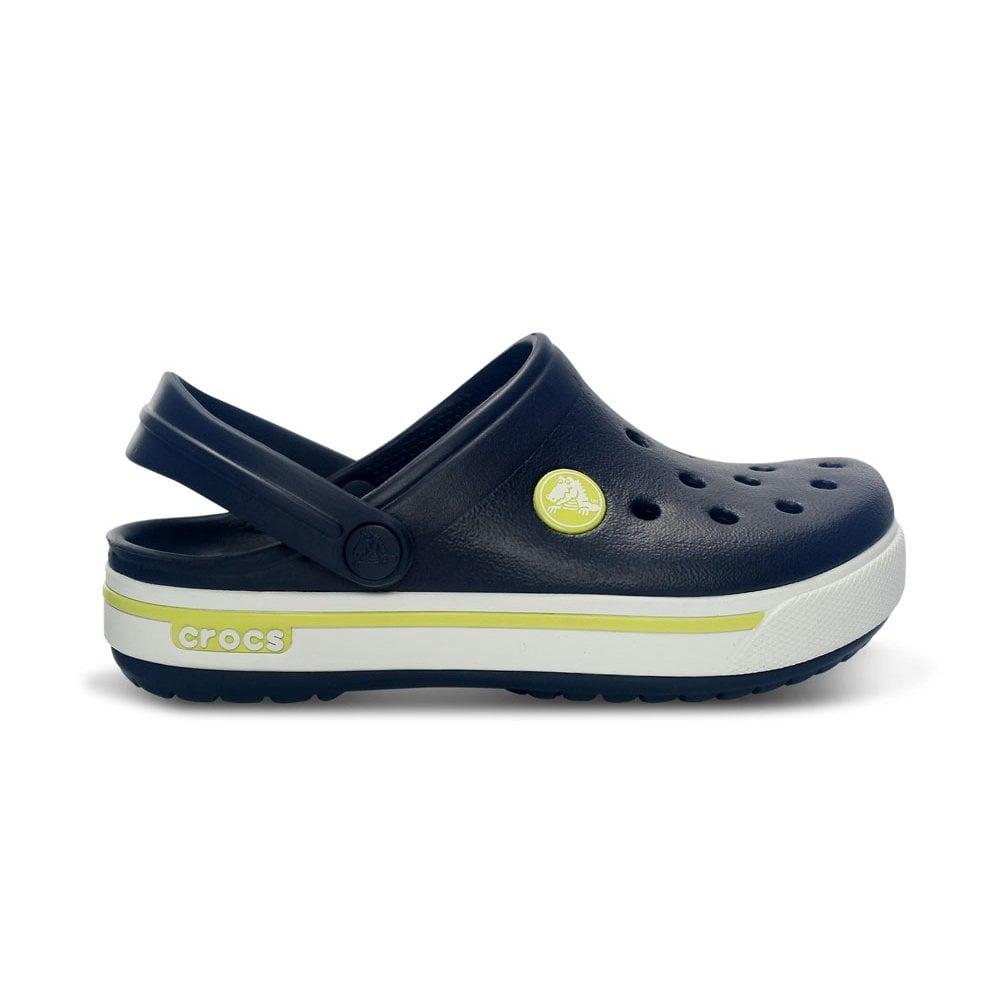 Crocs Kids Crocband II.5 Clog Navy Citrus 4827d4a50d6