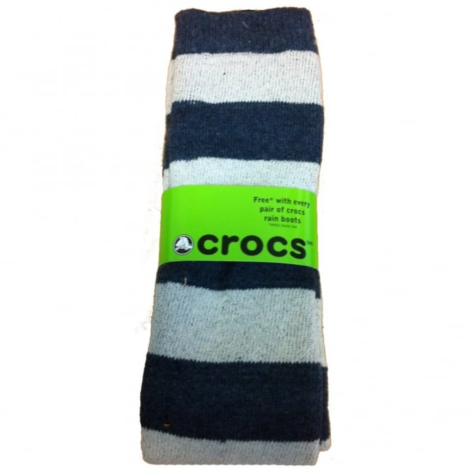 Crocs Socks Navy/White