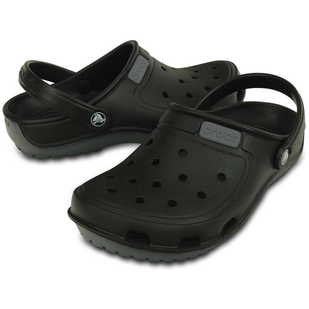 5cc1421cb4f510 Crocs Duet Wave Clog Black Charcoal